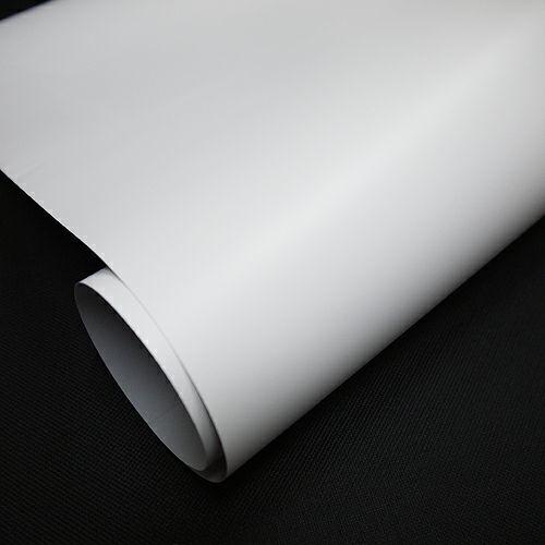短期イベント用 マット塩ビ 強粘着シルバー糊品 1370mm×50m